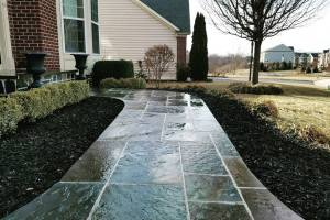 Natural Flagstone Front Walk