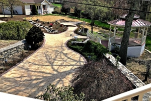 Backyard Renovation with Pondless Waterfall