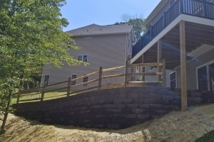 Engineered Wall with Patio in Lake Linganore