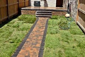 Downtown Rowhome Backyard Path
