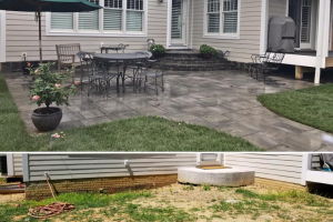 El Dorado Patio with Natural Stone Steps and Wall Accents