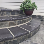 After Natural Stone Steps and Wall Accent