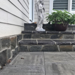 After Natural Stone Accents on Steps and Wall