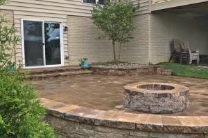 Front Walk and Patio with Fire Pit