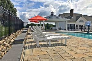 Large Pool Patio with Pavilion