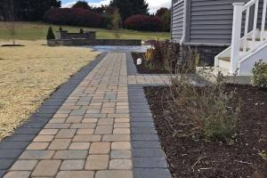 Total New Construction Package - Landscape, Hardscape, Waterfall, Raised Flower Beds
