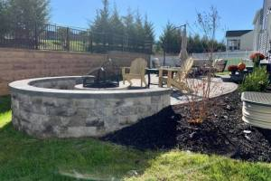 Middletown Glen Patio with Fire Pit