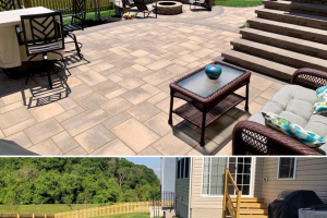 Multi-Level Patio with Fire Pit