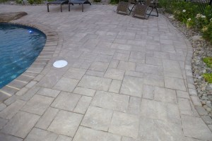 Pool Patio Installation with Landscape