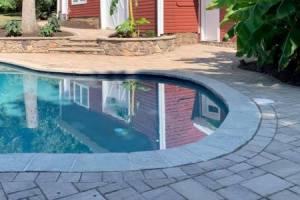 Tropical Backyard Pool and Patio