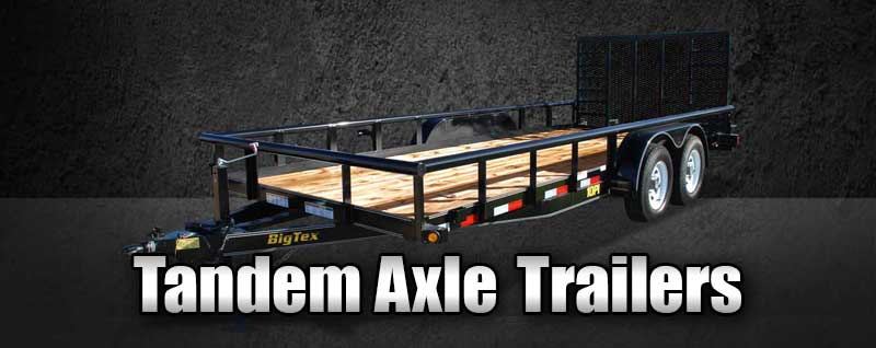 Tandem Axle Trailers in Frederick Maryland