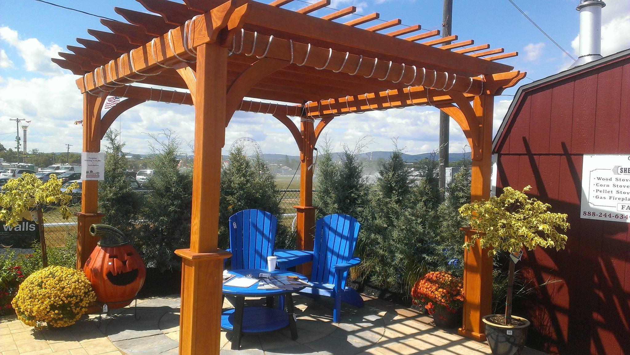 pergolas firepits frederick maryland barrick garden center. Black Bedroom Furniture Sets. Home Design Ideas