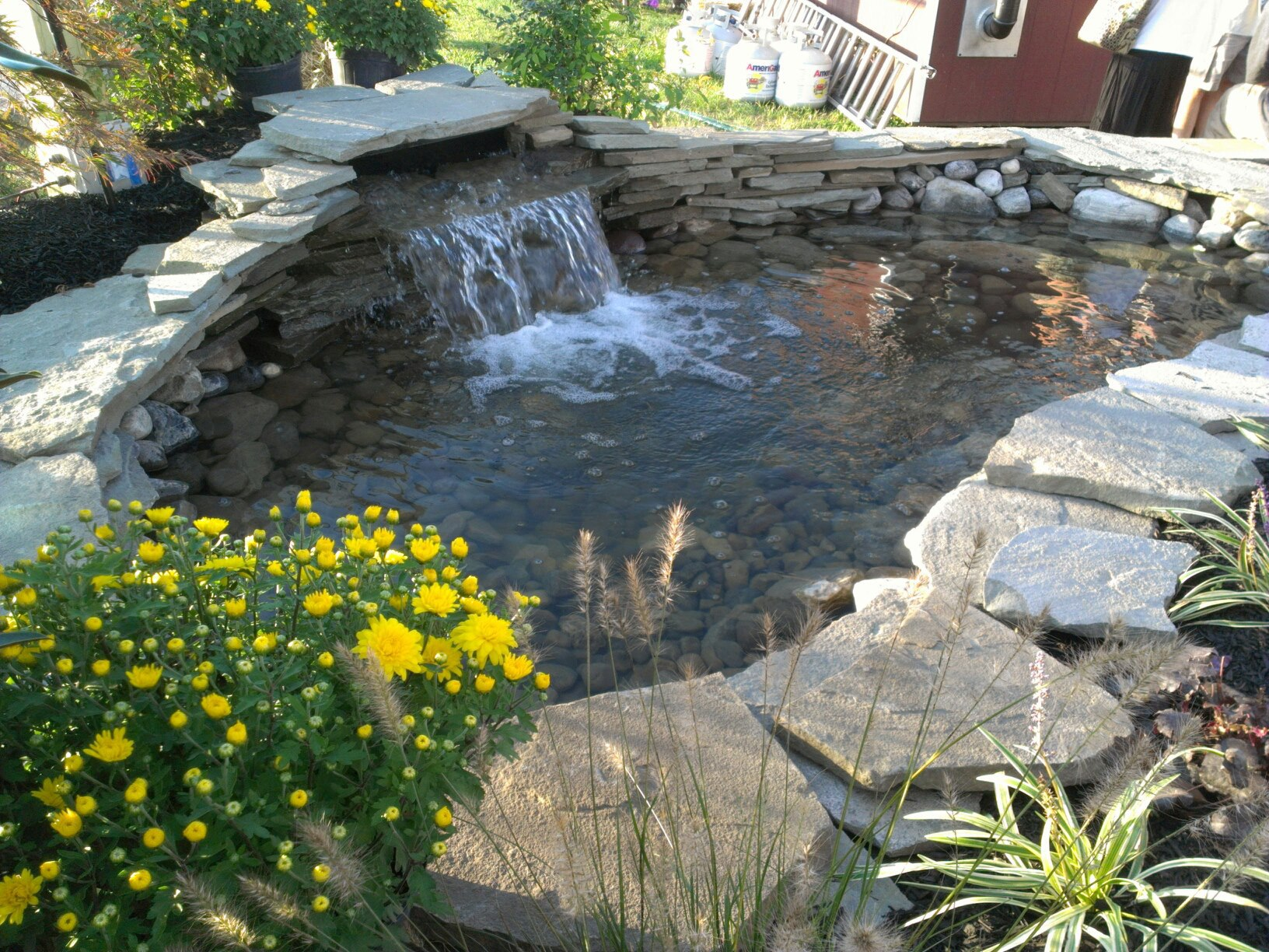 for natural features featuers solar water garden