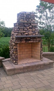Outdoor Custom Fireplaces | Frederick Maryland