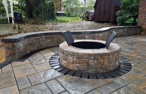 Custom Hardscapes and Firepit in Frederick Maryland