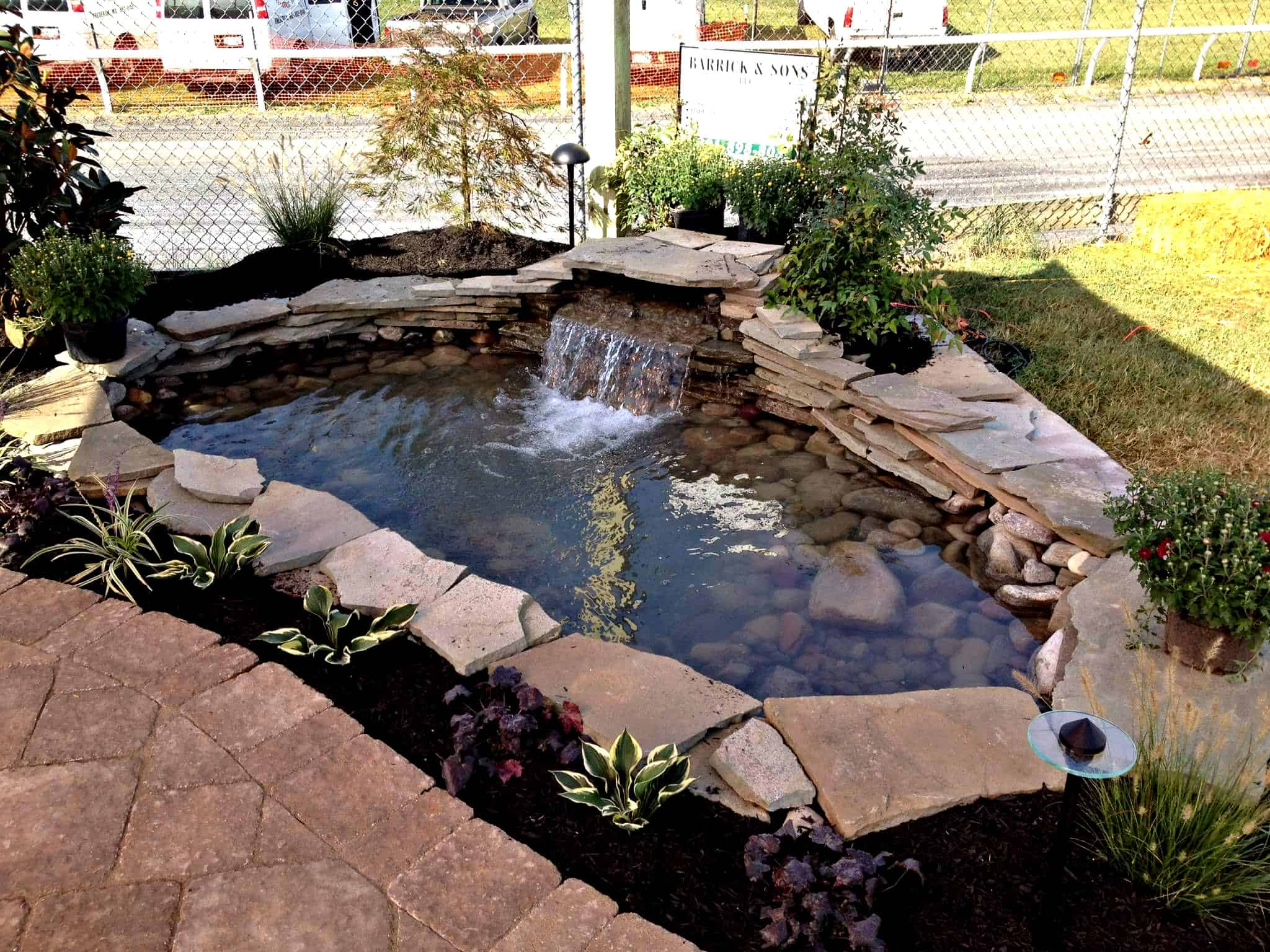 for fall features ideas sons portfolio backyard landscaping services feature alexander stunning water garden