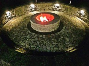 firepit and lights