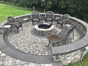 firepit with chairs