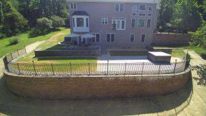 retaining wall big aerial