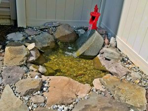 water feature red spicket