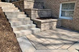 Wood Steps Replaced with Techo Bloc Rocka Step